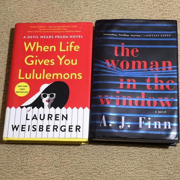 Lauren Weisberger/ A.J. Finn authors book lot 2